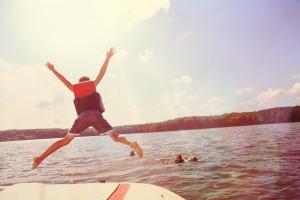 in het diepe springen
